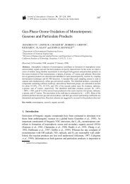 Gas-Phase Ozone Oxidation of Monoterpenes: Gaseous and ...