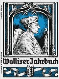Ausgabe 2008 - Walliser Jahrbuch