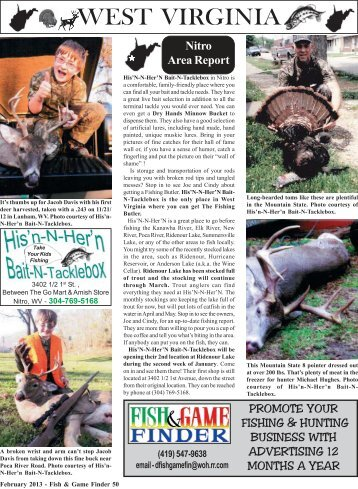 February 2013 50-Back.pmd - Fish and Game Finder Magazine
