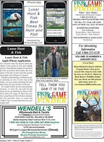 January 2012 2-25.pmd - Fish and Game Finder Magazine
