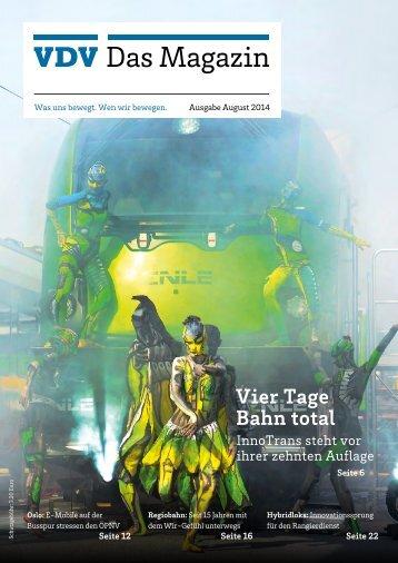 VDV Das Magazin Ausgabe August 2014