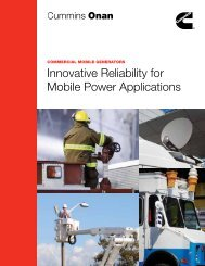Innovative Reliability for Mobile Power Applications - Cummins Onan