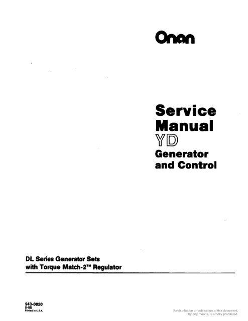 service manual  cummins onan