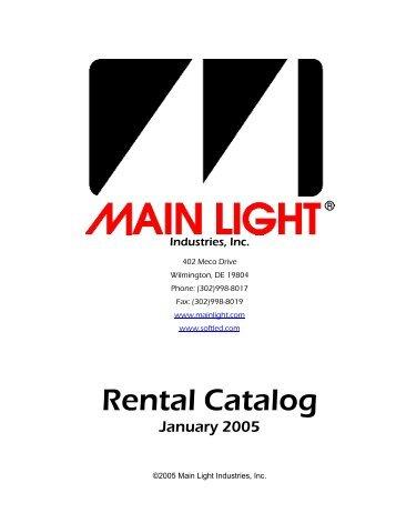 Rental Catalog - Main Light Industries