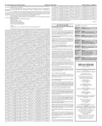 MINAS GERAIS - Secretaria de Estado de Planejamento e Gestão ...