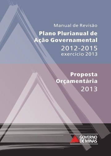 Manual de Revisão do PPAG 2012-2015 e LOA 2013