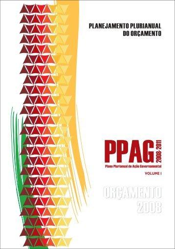 PPAG 2008-2011 Volume I - Programas e Ações por Área de ...