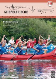 Stiepeler Bote 219 - September 2014