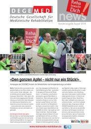 DEGEMED News Sonderausgabe Kampagne August 2014