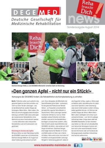 DEGEMED News Sonderausgabe Kampagne August 2014