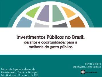 Investimentos Públicos no Brasil