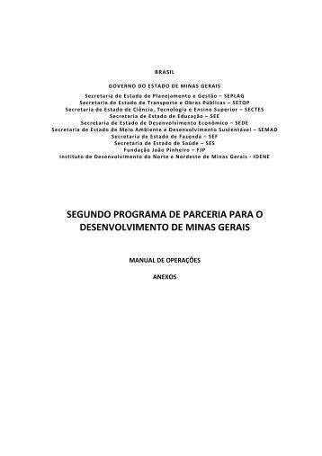 Anexos Manual Operações - Secretaria de Estado de Planejamento ...