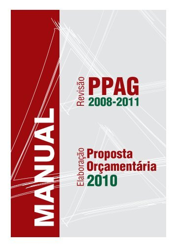 Manual de Revisão do PPAG 2008-2011 e - Secretaria de Estado ...