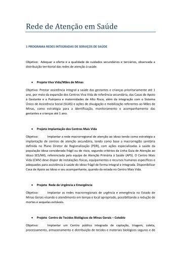 Rede de Atenção em Saúde - Secretaria de Estado de ...