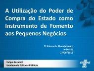 A Utilização do Poder de Compra do Estado como Instrumento de ...