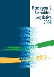 Mensagem do Governador à Assembleia Legislativa, em 2008