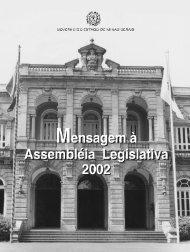 Mensagem do Governador à Assembleia Legislativa, em 2002