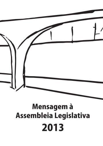 Mensagem do Governador à Assembleia Legislativa, em 2013