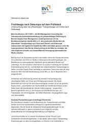 Frachtwege nach Osteuropa auf dem Prüfstand - ROI Management ...