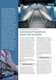 Synchrones Produktionssystem bei Schindler