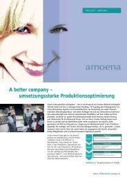 Umsetzungsstarke Produktionsoptimierung bei amoena