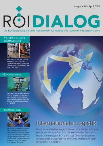 Internationale Logistik Internationale Logistik - ROI Management ...