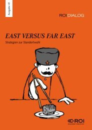 East vErsus Far East - ROI Management Consulting AG
