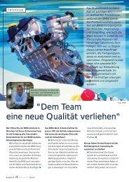 Optimierung der Fertigungsprozesse im BMW-Motorenwerk HamsHall