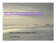 Water Vapor, Cloud Liquid Water Paths, and Rainrates over the ...