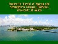nformation for prospective graduate students - Rosenstiel School of ...