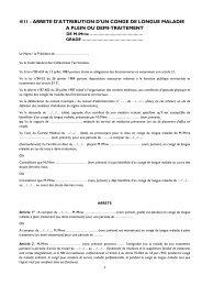 Arrêté d'attribution d'un congé de longue maladie à plein ... - CDG90