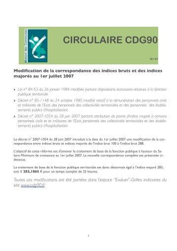 Nouvelle bonification indiciaire au 1er ao t 2006 cdg90 - Nouvelle grille indiciaire categorie b ...