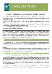Report des congés annuels en cas de maladie - CDG90