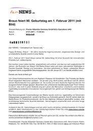 Braun feiert 90. Geburtstag am 1. Februar 2011 (mit ... - Fair-news.de