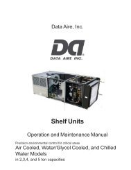 DAP III Operations Manual - Data Aire Data Aire Wiring Diagrams on