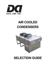 Air Cooled Condensers - Master - Data Aire