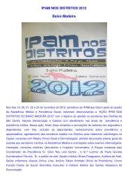 Nos dias 19, 20, 21, 22 e 23 de novembro de 2012 ... - Ipam