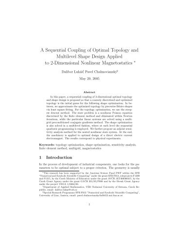 A Sequential Coupling of Optimal Topology and Multilevel Shape ...