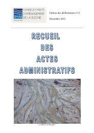 Receuil des actes administratifs 2012 - Syndicat Mixte d ...
