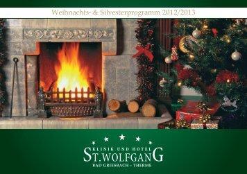 Weihnachts- & Silvesterprogramm 2012/2013 - St. Wolfgang