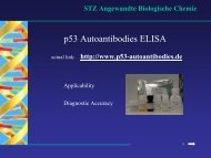 p53 Autoantibodies ELISA - Steinbeis-Transferzentrum für ...