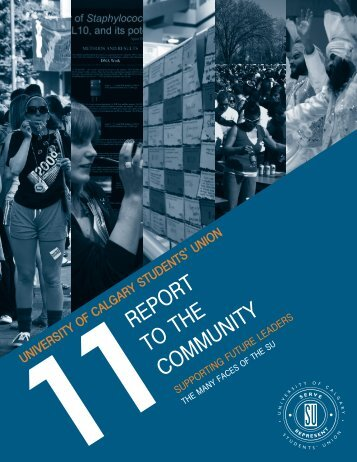 2011 Report to the Community - Students' Union - University of ...
