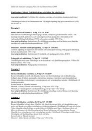 Studiegång: Idrott, frititidskultur och hälsa för skolår F-6 Termin 1 ...