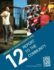 2012 Report to the Community - Students' Union - University of ...