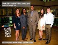 Executive Strategic Plan - Students' Union - University of Calgary