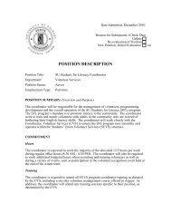 POSITION DESCRIPTION - Students' Union