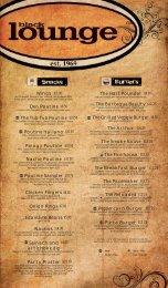 The Black Lounge Fall Food Menu - Students' Union