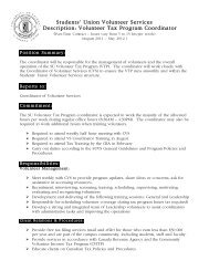 VTP Coord Position 2011-1 - Students' Union
