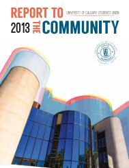 2013 Report to the Community - Students' Union - University of ...