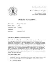 Position Description - Students' Union - University of Calgary